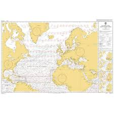 Admiralty Chart 5124 7 Routeing Chart North Atlantic Ocean July