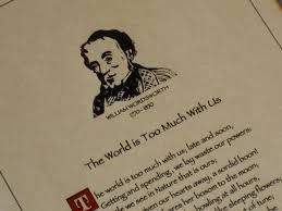 "william wordsworth s ""the world is too much us"" the life  william wordsworth s ""the world is too much us did this woodcut of william wordsworth"