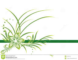 Green Border Stock Vector Illustration Of Fashion Flower 13479759