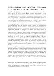 essay globalization inglese livello b bicocca docsity  the document