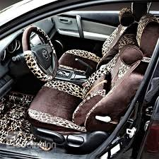 29 soft and y leopard stripes pattern soft universal car seat covers