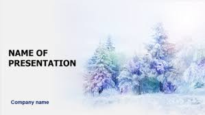 Winter Powerpoint Download Free Dreamy Winter Powerpoint Template For Presentation