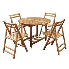 outdoor table and chairs folding. Merry Products Round 5-piece Outdoor Folding Table Set And Chairs