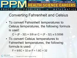 converting fahrenheit and celsius