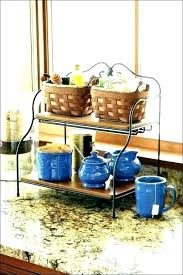 kitchen storage fruit basket counter solutions awesome inside idea vegetable countertop