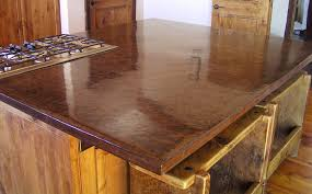 a kitchen island reiforced with pva fibers in the concrete mix