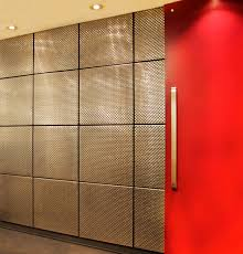 wall tiles for office. Supported By The Invisible Brackets In Each Tile\u0027s Four Corners, Mesh  Cladding Brings Texture And Visual Depth To Space. Wall Tiles For Office