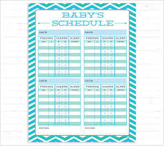 9 Baby Schedule Templates Doc Pdf Psd Free Premium