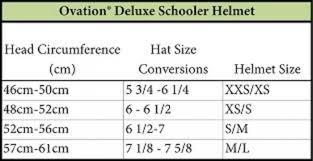Ovation Helmet Size Chart Ovation Deluxe Schooler Helmet Matte Crackle Ihad 40 Sale