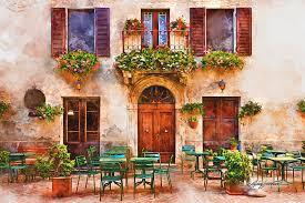 tuscany painting italian cafe by michael shifflett