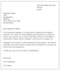 Sick Leave Application Letter Sick Leave Application Letter For