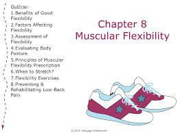chapter 8 muscular flexibility