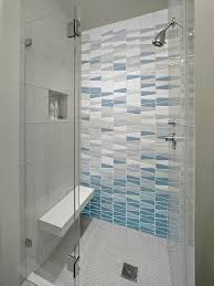 erin adams tile bathroom contemporary with frameless glass shower enclosure folding shower benches and seats