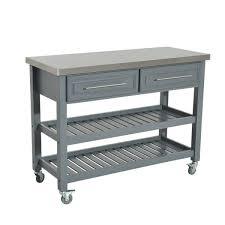 homcom 47 stainless steel 3 tier kitchen rolling cart workbench with storage aosom com
