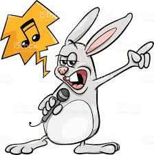 Chant Rock Illustration De Dessin Anim Lapin Stock Vecteur Libres