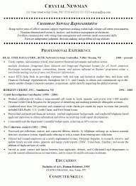 Customer Service Representative Resume Cover Lettercrystal With