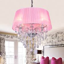 good lighting on pink chandelier
