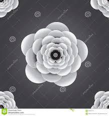Naadloos 3d Zwart Wit In Reliëf Gemaakt Bloempatroon Als Achtergrond