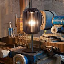 Table Lamp Contemporary Aluminum Glass Joseph Jptl Eoq