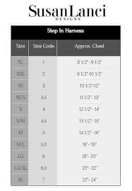 Susan Lanci Step In Harness Sizing Chart And Video