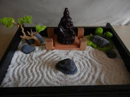 Desk or Table Top Zen Garden with Solid Oak Stand and Buddha - DIY Kit