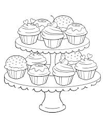 You will find it easy to color this illustration if you have some experience coloring. Get This Birthday Cupcake Coloring Pages For Kids 7gb41