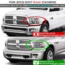 Ram Door Projector Lights 2013 2018 Dodge Ram 1500 3500 Led Projector Headlights Black