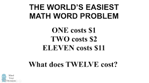 can you solve the easiest math word problem beauty of mathematics