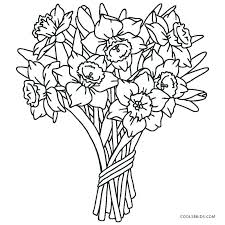 Coloring Page Of Flowers For Preschoolers Flower Printable Coloring