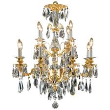antique bronze and cut crystal twelve branch spanish chandelier
