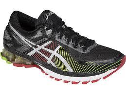 mens asics gel kinsei 6 running shoes black