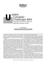 Pdate Canadair Challenger 604