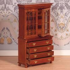 bookcase bureau walnut finish bookcase bureau walnut finish the dolls house emporium bookcase dolls house emporium