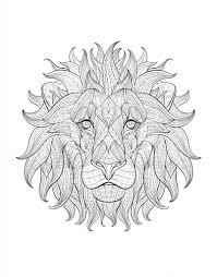 Coloriage Adulte Afrique Tete Lion 3