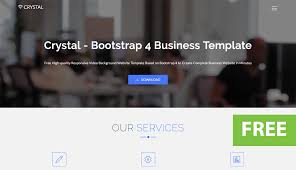 website template video crystal free bootstrap video background website template