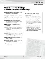 the electoral college activities th th grade worksheet the electoral college activities worksheet