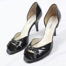 57 57 previous steve madden womens open toe heels patent leather 3 inch sti black heel 8 5 steve madden womens open