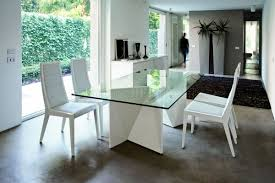 modern dining table white top
