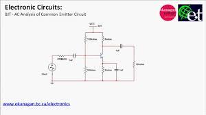 Ce Amplifier Design Values Common Emitter Amplifier