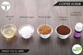 diy face scrub using coffee sweet almond oil moisturizes skin 2 tablespoons
