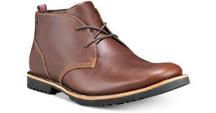 timberland richdale leather chukka boots created for macy s in brown for men lyst
