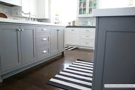 black and white striped kitchen rug would also add something fun to the kitchen a great