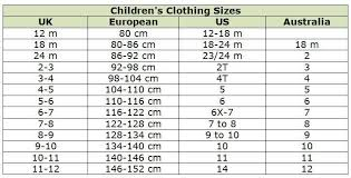Us Euro Clothing And Shoe Size Conversion Chart