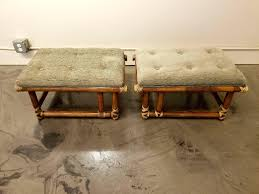 mcguire furniture company. Mcguire Furniture A Pair Of Bamboo Ottomans By Very Nice Original Condition With Leather Company