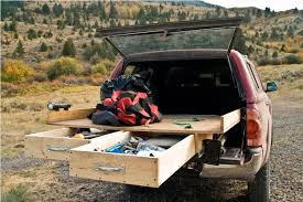 image of diy truck bed storage drawers design