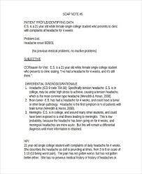 Unm Hospital Doctors Note 14 Soap Note Examples Pdf Examples