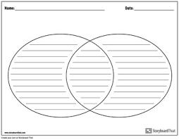 Printable Venn Diagram Graphic Organizer Graphic Organizer Templates Venn Diagram By Storyboard That Tpt