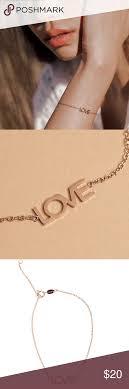 Maya Brenner Designs Love Bracelet In White Maya Brenner Delicate Gold Love Chain Bracelet Brand New