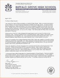 Letter Of Recommendation Student High School Teacher Letter Of Recommendation For College Under
