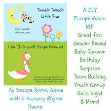 Twinkle Twinkle Nursery Rhyme Diy Escape Room Kit Gender Reveal